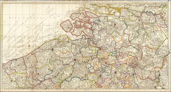 100-Netherlands and Belgium Map By Nicolaes Visscher II