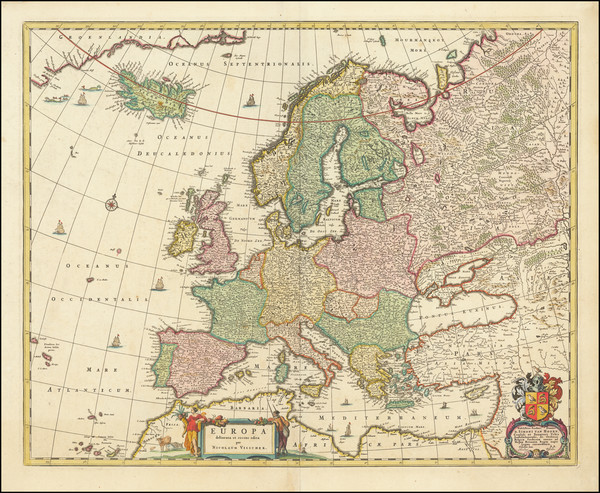 31-Europe Map By Nicolaes Visscher I