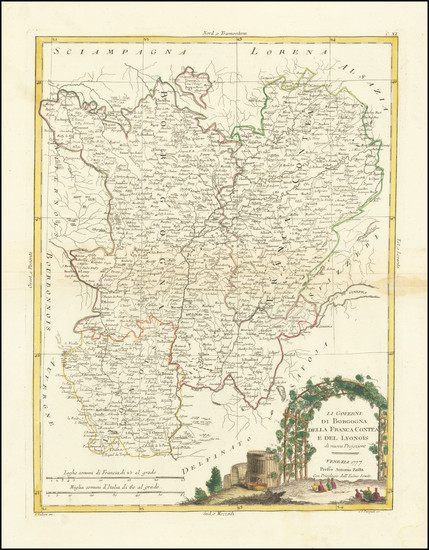 35-France Map By Antonio Zatta
