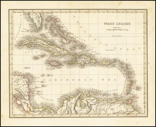 23-Caribbean Map By Thomas Gamaliel Bradford