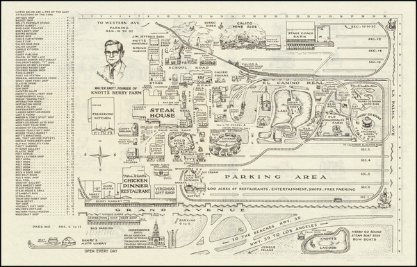 76-Pictorial Maps, California and Other California Cities Map By Anonymous