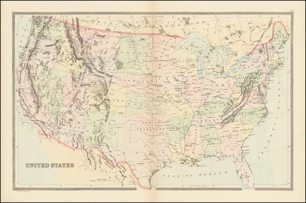 54-United States Map By William Bradley & Bros.