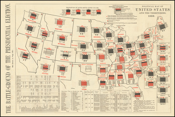 18-United States and Curiosities Map By Harper's Weekly