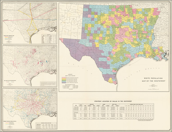 91-Texas Map By American Map Company