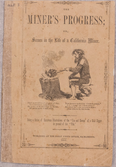 3-California and Rare Books Map By Alonzo Delano  &  Charles Nahl