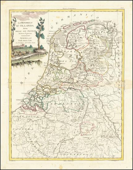 78-Netherlands Map By Antonio Zatta