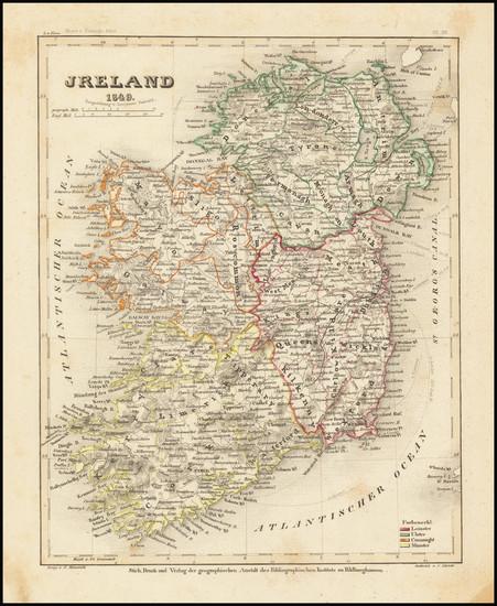 49-Ireland Map By Joseph Meyer