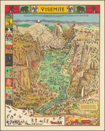 88-Pictorial Maps and Yosemite Map By Jo Mora
