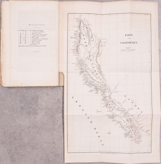 76-Baja California, California and Rare Books Map By J. Hoppe  &  Georg  Adolph Erman