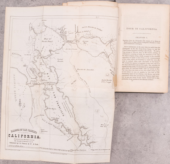 44-California, San Francisco & Bay Area and Rare Books Map By Joseph W. Revere