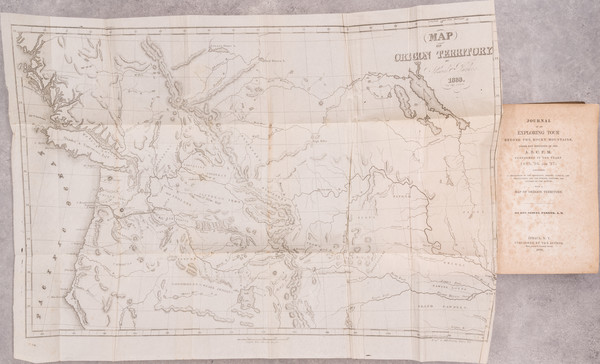 17-Rocky Mountains, Oregon and Washington Map By Samuel Parker