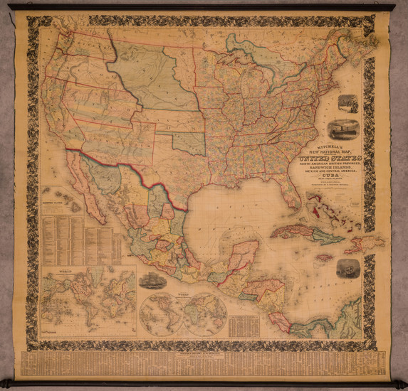0-United States, Plains, Southwest, Rocky Mountains and Pacific Northwest Map By Samuel Augustus