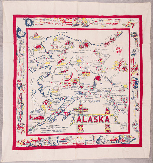 1-Alaska and Pictorial Maps Map By Anonymous