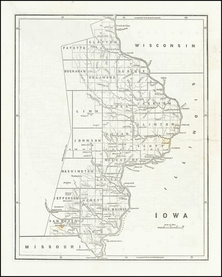 85-Iowa Map By Sidney Morse  &  Samuel Breese