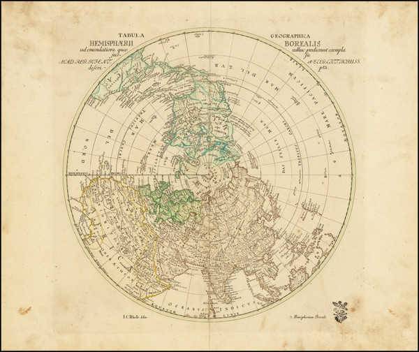 10-Northern Hemisphere Map By Leonard Von Euler