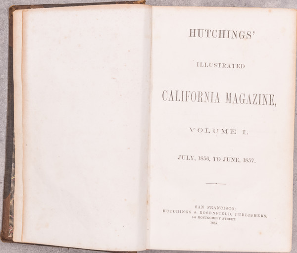 28-California, Rare Books and Yosemite Map By James M. Hutchings