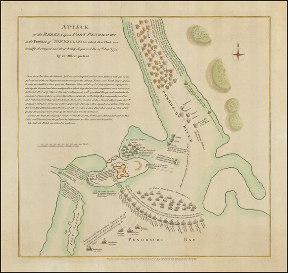 22-New England, Maine and American Revolution Map By Paul de Rapin de Thoyras