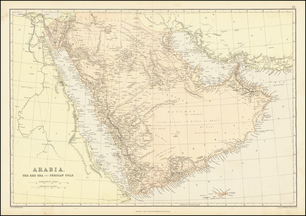 92-Middle East and Arabian Peninsula Map By Blackie & Son