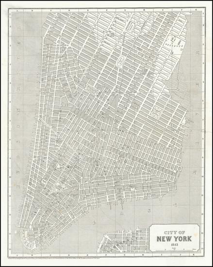 16-New York City Map By Sidney Morse  &  Samuel Breese