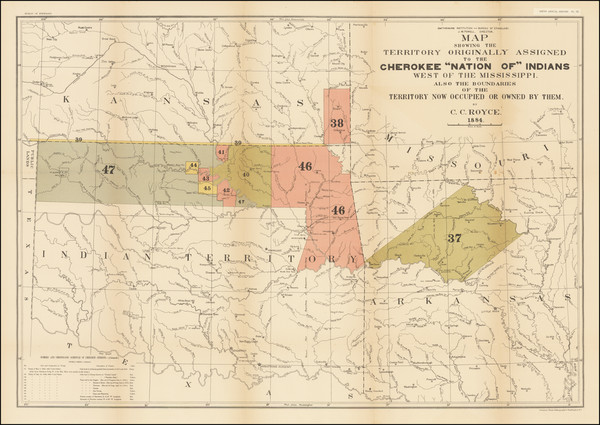 14-Arkansas and Oklahoma & Indian Territory Map By C.C. Royce