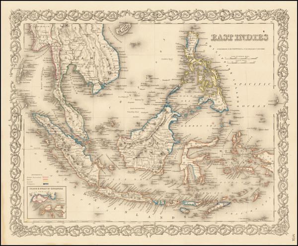 53-Philippines, Singapore and Indonesia Map By G.W.  & C.B. Colton