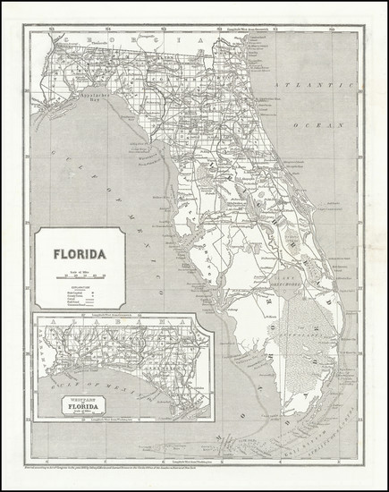 92-Florida Map By Sidney Morse  &  Samuel Breese