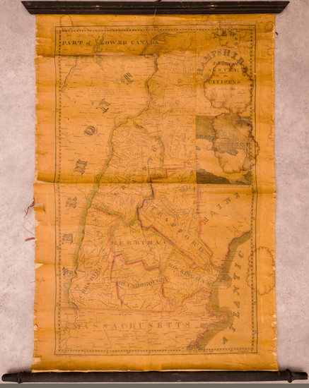 81-New Hampshire Map By Edward Ruggles