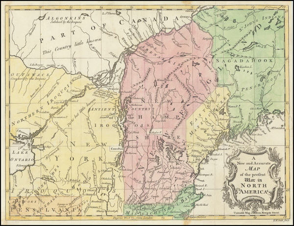 75-United States, New England, Maine, American Revolution and Canada Map By Universal Magazine