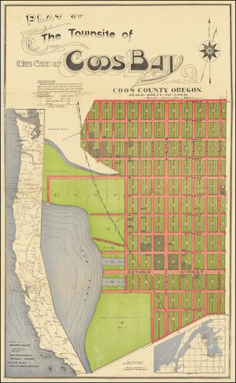 89-Oregon Map By F.K. Gettins