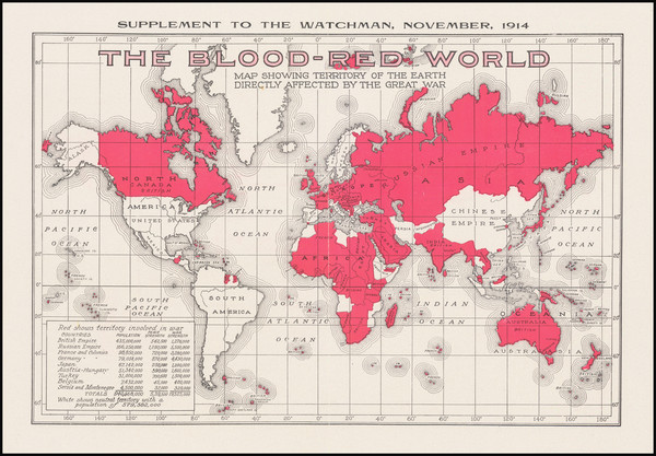 5-World and World War I Map By The Watchmen