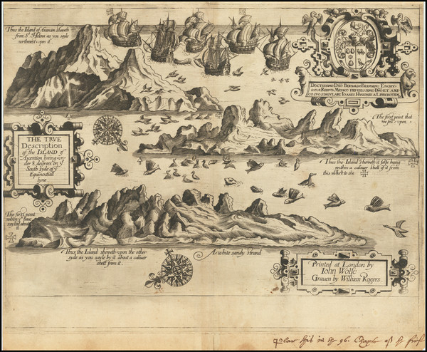 80-Atlantic Ocean and African Islands, including Madagascar Map By John Wolfe / Jan Huygen van  Li