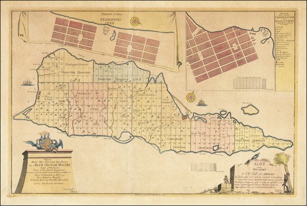55-Virgin Islands Map By Jens Michelsen Beck