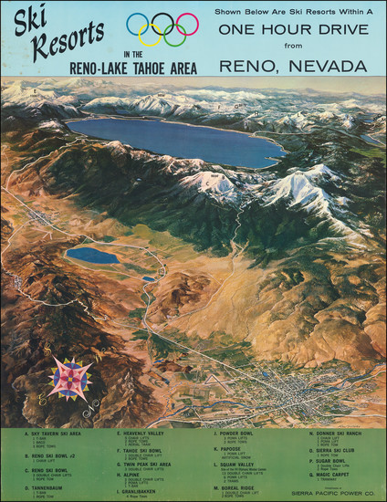 26-Nevada, Pictorial Maps, California and Other California Cities Map By Ren Wicks