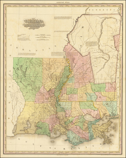 24-South, Louisiana and Mississippi Map By Henry Schenk Tanner