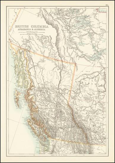 90-Western Canada Map By Adam & Charles Black