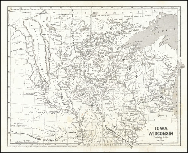 20-Minnesota, Wisconsin, Iowa, North Dakota and South Dakota Map By Sidney Morse  &  Samuel Br