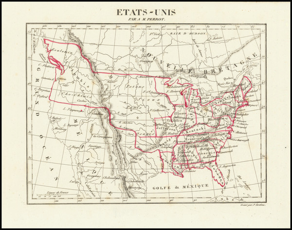 83-United States, Midwest, Plains and Missouri Map By Aristide Michel Perrot