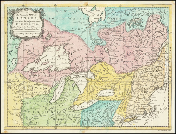 96-New England, Midwest, American Revolution and Canada Map By Universal Magazine