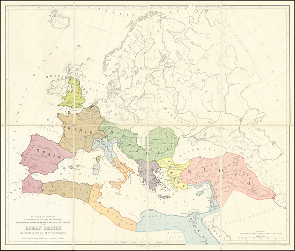 100-Europe, Western Europe and Mediterranean Map By Benjamin Wills Newton