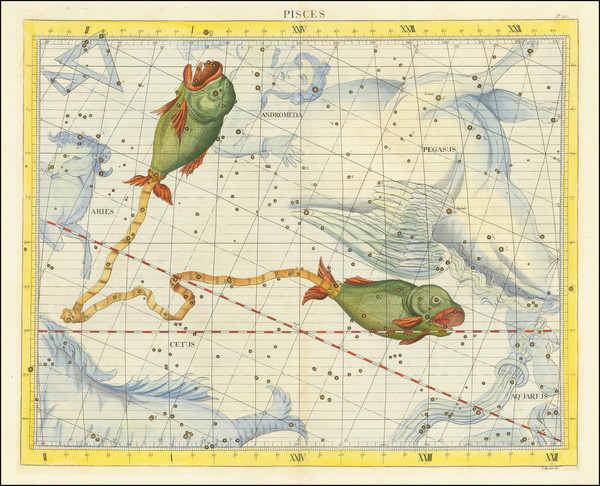 37-Celestial Maps Map By John Flamsteed