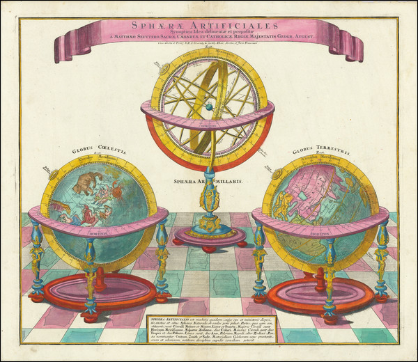 38-Celestial Maps Map By Matthaus Seutter