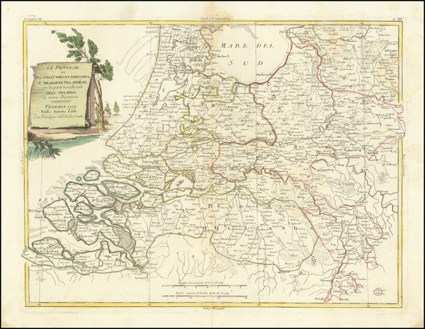 46-Netherlands Map By