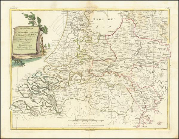 21-Netherlands Map By Antonio Zatta