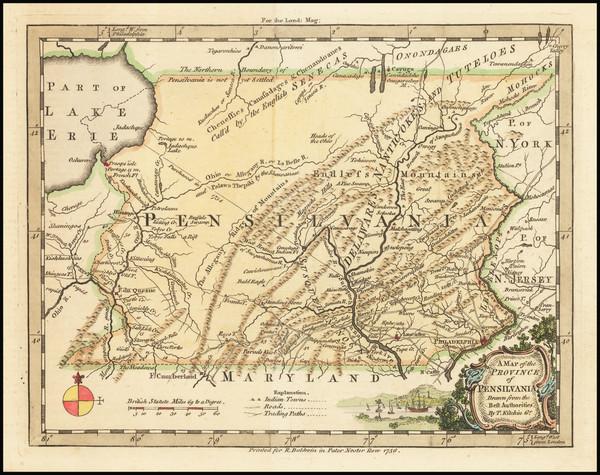 40-Mid-Atlantic and Pennsylvania Map By Thomas Kitchin