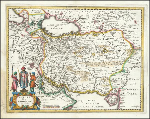 67-Persia Map By Matthaus Merian