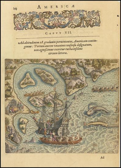 49-Brazil Map By Theodor De Bry