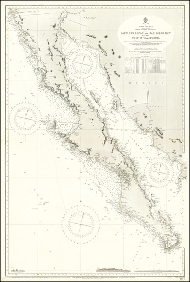 66-Baja California and California Map By British Admiralty