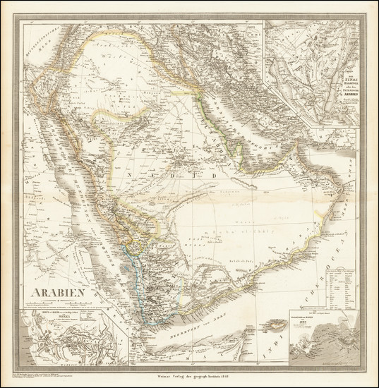 21-Middle East and Arabian Peninsula Map By Heinrich Kiepert