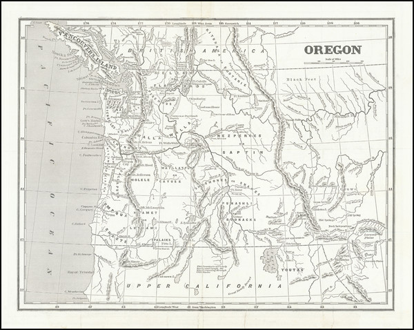 49-Idaho, Montana, Wyoming, Pacific Northwest, Oregon and Washington Map By Sidney Morse  &  S