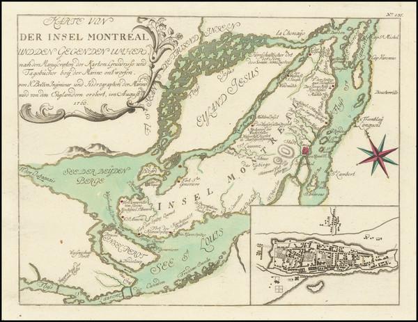 89-Eastern Canada Map By Gabriel Nikolaus Raspe